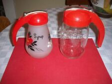 LOT OF SYRUP DISPENSERS SLIDE TOP CREAM MILK PITCHER