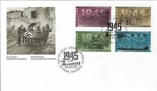 1995 Second World War #1541-4 - 1945 Peace FDC with CP cachet