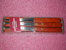 12 WICHITA VALUE SERIES STEAK KNIVES WOOD HANDLE POINTED TIP 7.5 INCH BRAND NEW