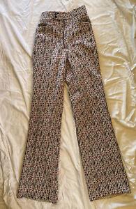 Vintage Women's High Waisted Slacks Pants Red White Blue Arnold Christensen