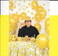 Funny Yellow Smiley Face Balloons Have A Nice Day Encouragement Greeting Card