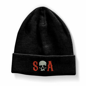 Official Sons Of Anarchy S-O-A Logo Beanie (One size) Black Warm Unisex