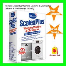 Hillmark ScalexPlus Washing Machine Dishwasher Cleaner Descaler 3 Sachets eBC