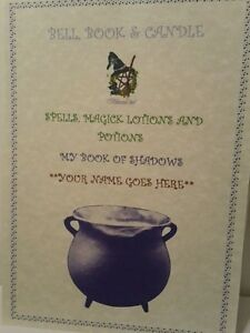 Personalised A4 Pagan Natural Parchment Poster Witchcraft BOS Page Wicca Witch