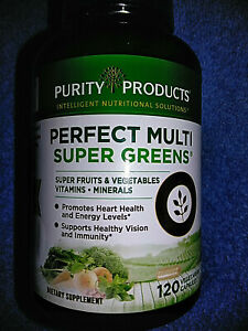 Purity Products Perfect Multi Super Greens Multivitamin Capsules Health Vitamins
