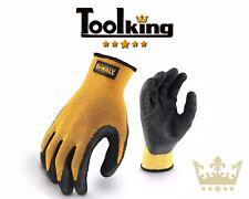 DeWalt DEWGRIPPER Yellow Knit Back Latex Gloves Work Garden
