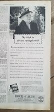 1947 Rock of Ages Barre Vt granite  burial monuments faith strengthened ad