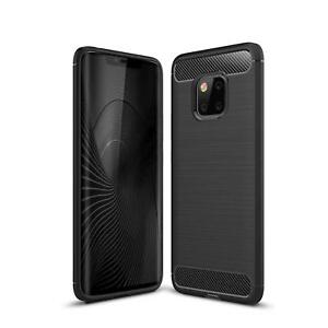 For Huawei Mate 20 Pro Carbon Fibre Soft Protective  Shockproof CaseCover Black