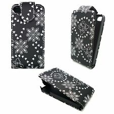FOR APPLE IPHONE 4G/4S BLACK DIAMOND BLING GEM BUTTERFLY AND FLOWER COVER CASE