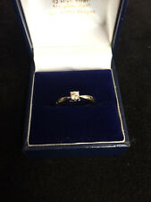 9ct White Gold .20ct Diamond Solitaire Ring
