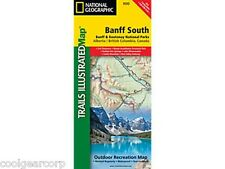 National Geographic Trails Illustrated Alberta/BC Canada Banff South Map 900