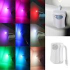 HOT!!!LED 8 Color Night Light Body Motion Sensor Automatic Toilet Bowl Bathroom