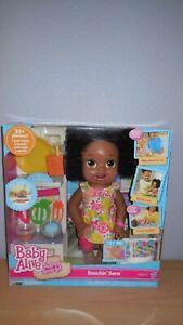 Baby Alive Super Snacks Snackin' Sara Doll Black New and Sealed