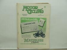 March 1950 MOTORCYCLING Magazine Matchless Clubman BSA L8537
