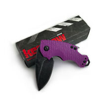 Kershaw 8700PURBW Shuffle Purple Handle 8Cr13MoV Plain Edge Folding Knife New