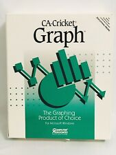CA CRICKET GRAPH VERSION 1.3 WINDOWS DOS RETRO PRESENTATION GRAPHICS 1991