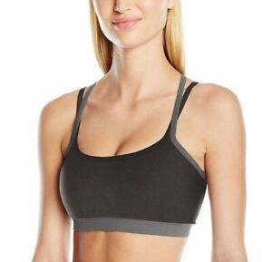 Soybu Women's Levity Sports Bra X-Small Black & Heather Gray Athletic Running