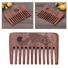 Wood Anti-static Comb Wide Tooth Beard Comb Pocket Size Massage Hair Care Hot