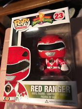 "POP VINYL POWER RANGER RED "" vaulted , retired "" # 23 ORIGINAL"