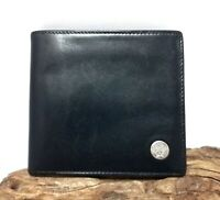 Authentic Versace Medusa Black Genuine Leather Men Bi-Fold Wallet