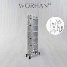 WORHAN® 6.7m Foldable Multipurpose Aluminium Ladder Long Twin Stabilizers KS6.7