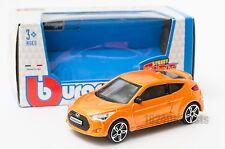 Hyundai Veloster Turbo in orange, Bburago 18-30287, scale 1:43, toy car gift