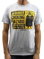 Star Wars Danger Choking Hazard Vader Grey Heather Men's T-Shirt New