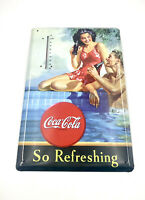 Coca Cola Retro Design Metal Thermometer 2010 VGC So Refreshing Christmas Gift