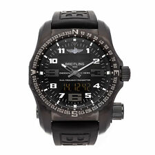 Breitling Emergency Night Mission Quartz Titanium Mens Strap Watch V7632522/BC46