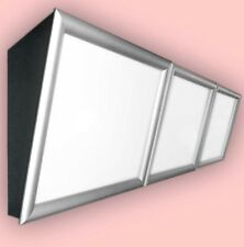 LED-Menüboard -Speisekarte geneigt 3 Fenster & Klapprahmen, Backlite 2000x600 mm