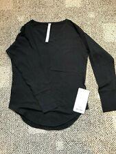 Lululemon Weekend Long Sleeve Top - Size 4 - NWT - Black