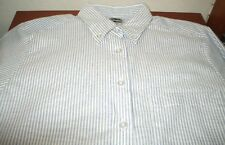NEW EDWARDS  long sleeve striped button up dress shirt size XXS XTRA SMALL