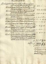 Manoscritto Settecentesco Resoconto del Nobile Pancrazi in Cortona 1700