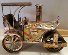 Copper Brass Music Box Model T Smoke Stack Opens and Closes While Playing