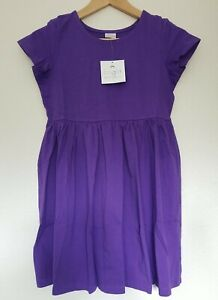 NWT HANNA ANDERSSON PURPLE BRIGHT BASICS DRESS 110 5 120 6/7 130 8 140 10
