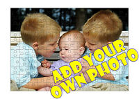PERSONALISED PHOTO 120 PIECE JIGSAW PUZZLE A4 - OWN PHOTO & TEXT - GREAT GIFT !!