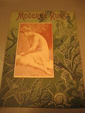Kunstdruck von 1899 Titelblatt Entwurf Erotic Kunst,Jugendstil-Ancient art