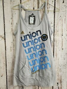 LZ Women's Small Adidas Philadelphia Union Racerback Terry Tank Top Shirt Tee NW