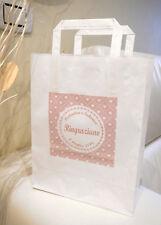50 Wedding Bag personalizzate bianca Sacchetti carta matrimonio manico quadro