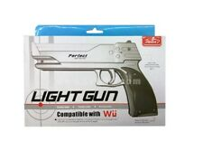Pistola Silver Realistica Compatibile Wii Light Gun Console