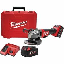Milwaukee FUEL ANGLE GRINDER KIT M18CAG125XPD-502C 18V 5Ah 125mm Battery&Charger