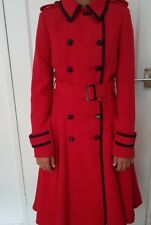 Designer Red fit & flare coat - Jonathan Saunders LIMITED EDITION