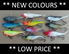 10 Vibe Soft Plastics Fishing Lures 80mm 90mm Mullet Barra FREE SHIPPING