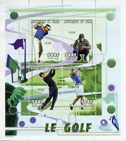 Chad Sports Stamps 2000 MNH Golf 4v M/S VIII