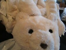 Pottery Barn Kids Faux-Fur Bear Sleeping Bag ivory New wo tag