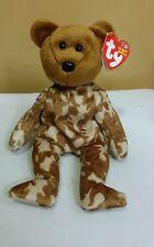 Ty Beanie Baby HERO the UK Camouflage Military Bear British FLAG Right Arm, New