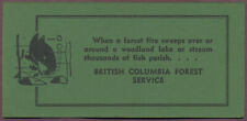 "British Columbia Forest Service INK BLOTTER 6-3/8"" Canada Fish Lake Stream 1950s"