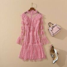 Summer fashion aristocratic temperament long sleeve makings princess dress SMLXL