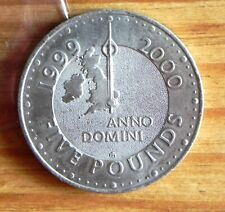 """""""MILLENIUM"""" FIVE POUND (£5) COIN, 1999/2000, """"WHAT'S PAST IS PROLOGUE"""" ON EDGE."""