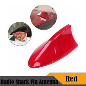 Red Car Shark Fin Roof Antenna Aerial Mast FM/AM Radio Signal For Golf VW Ford